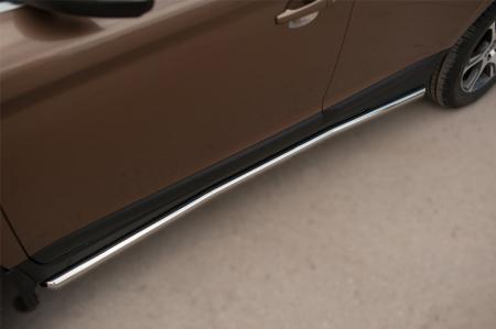 Volvo XC 60 2008-2013 Защита порогов d42 VXCT-002076